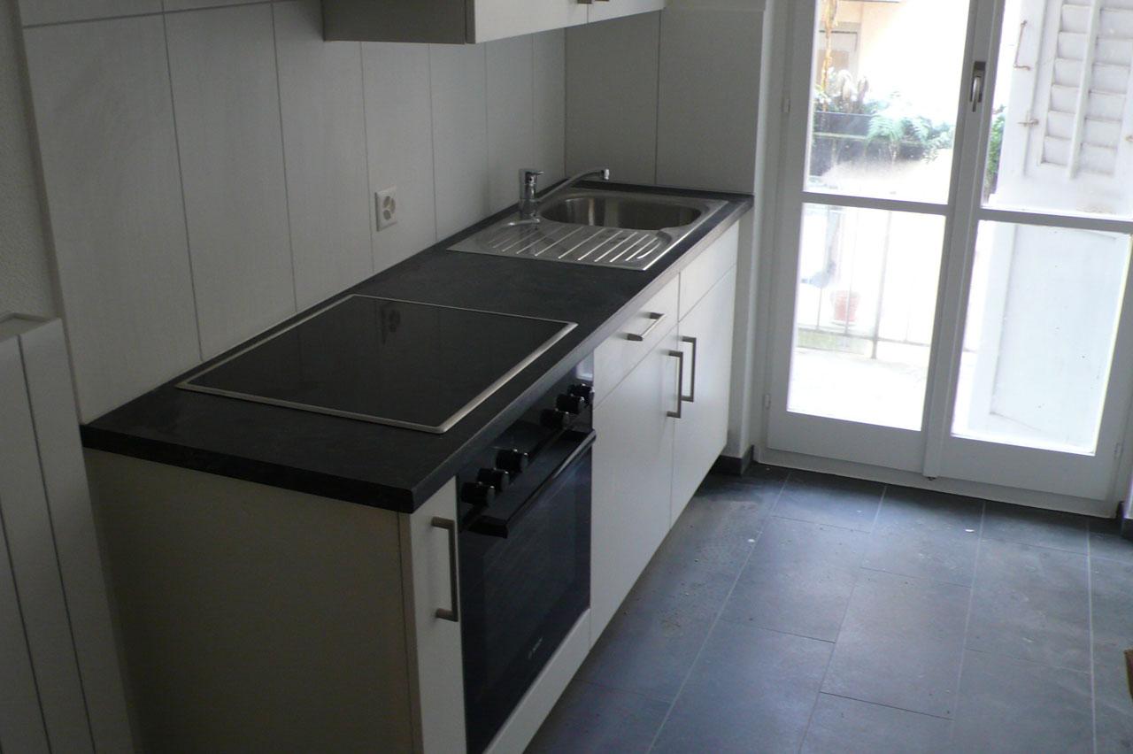 Die neue Küche strahlt im neune Glanz